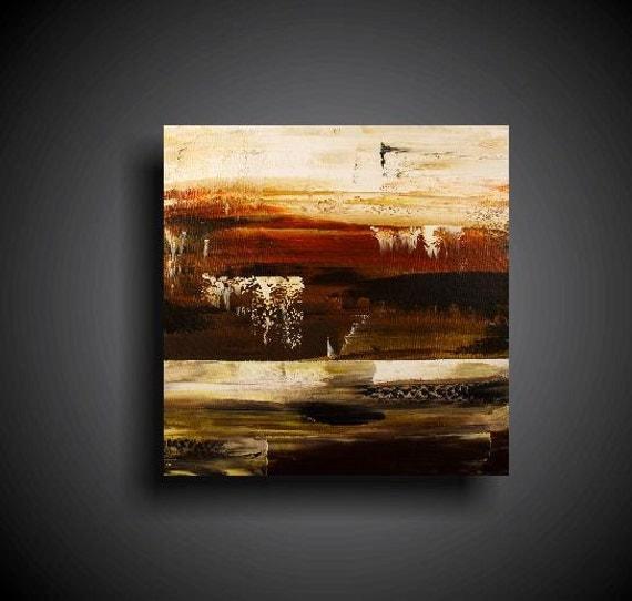 Abstract Painting. Wall Art.  Modern Art. Original. Contemporary Painting. Huge. 24 x 24. Rust Green Brown