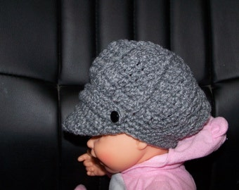 newsboy hat with band for babies up to 18 months old