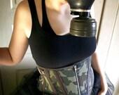 Little Green Men - Camo underbust corset by SheSawRed - 28-27-32