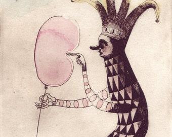 archival art print, the Balloon Popper