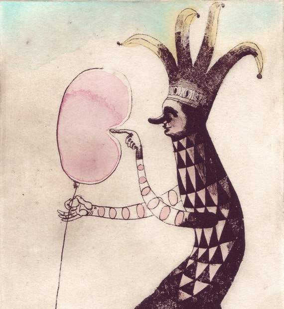 archival art print, the Balloon Popper