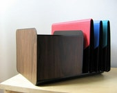 vintage faux bois lateral file and bookends