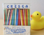 colorful Cresca party picks