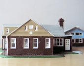 cape cod model home HO scale built up kit plastic house