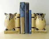 wise owl bookends, back to school, googly eyes