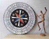big vintage carnival game wheel