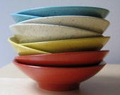 reserved for soupyalso Super Vintage Melmac Serving Bowl\/Vegetable Salad Set 9 Piece Retro Colors