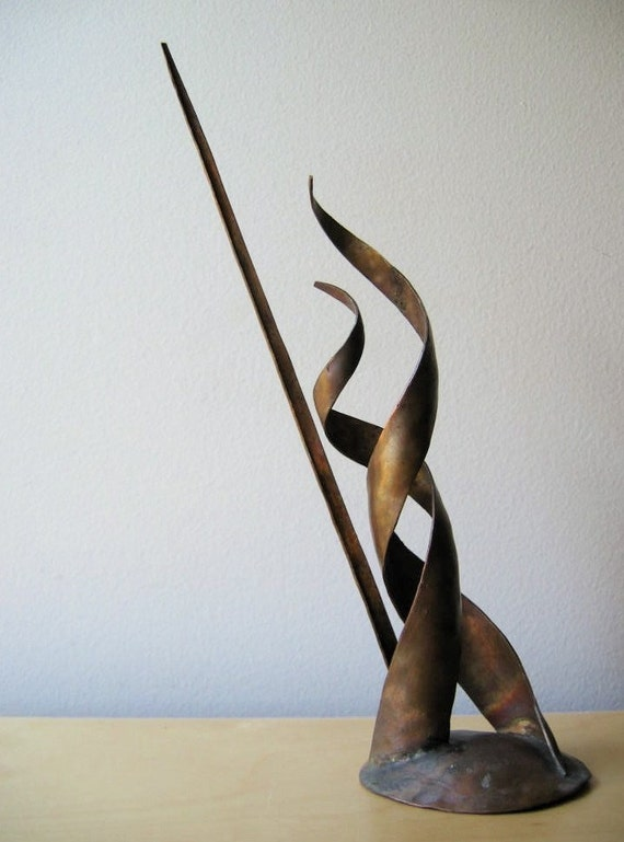 vintage eames era modernist metal sculpture