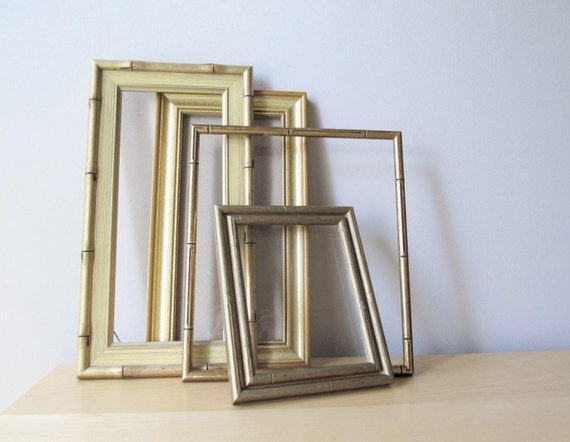 instant collection gilt wood frames, faux bamboo, gilded gold