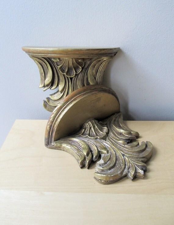 antique sconces, gold gilt wall shelves, paris apartment