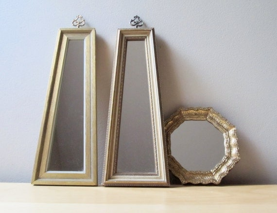 gilded gold vintage wall mirror