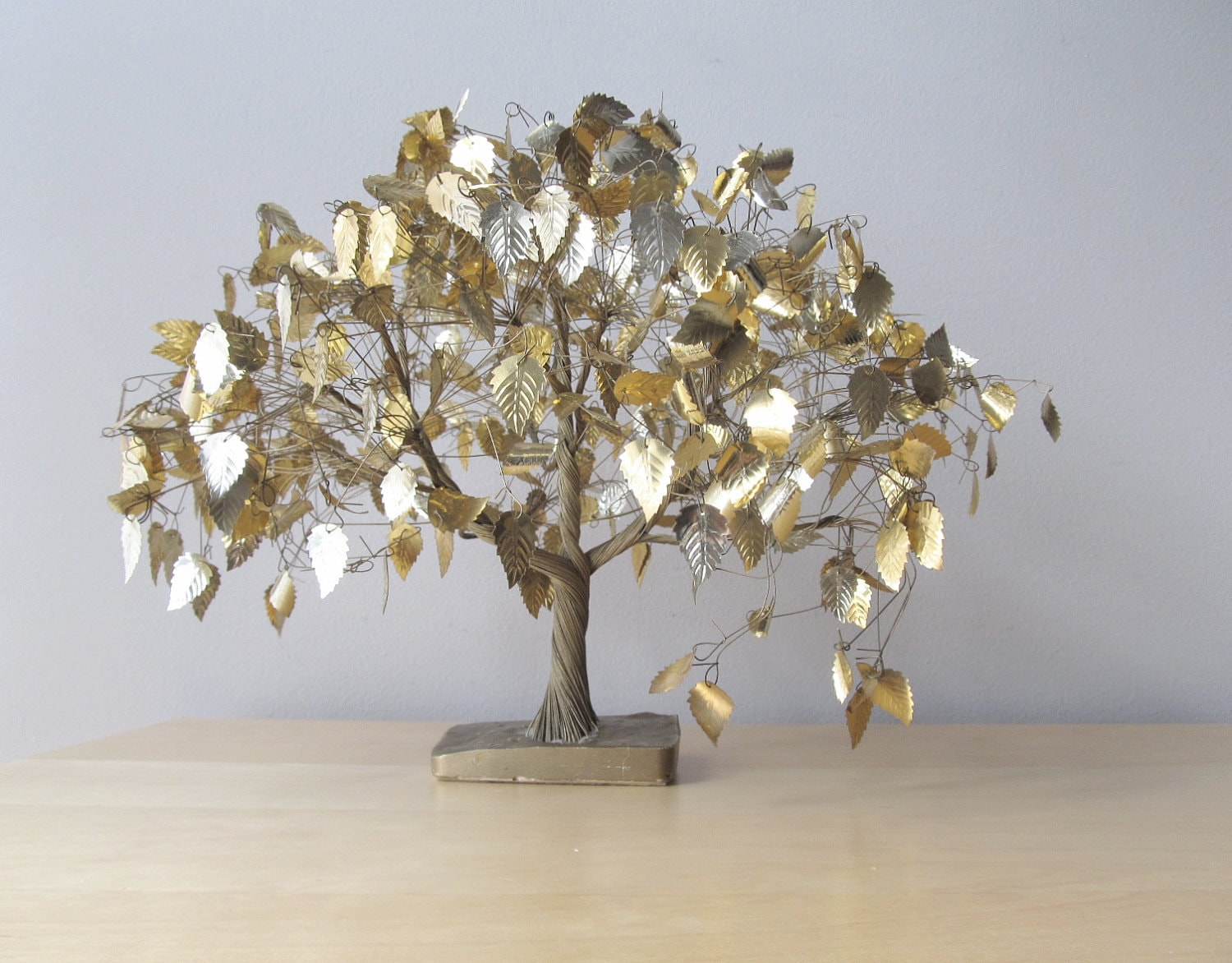 Under The Dream Tree Vintage Gold Wire Sculpture