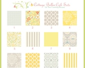 Custom Changing Pad Cover - Taza Grey Yellow - Design Your Own, You Choose the Fabric