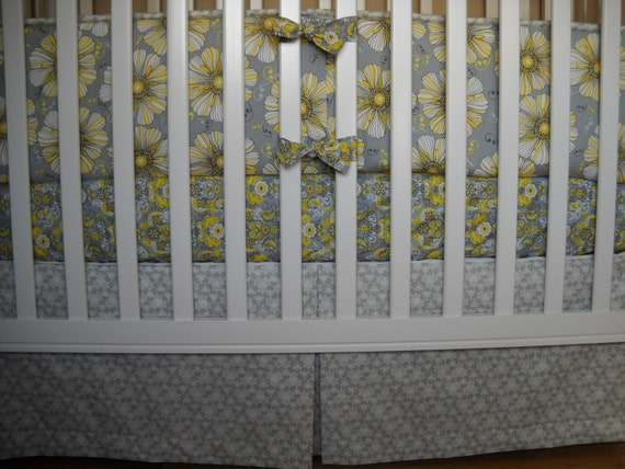 Center Pleat Crib Skirt, Custom Made,  Design Your Own, 100s of Fabrics to Choose From, Handmade by Cottage Belles