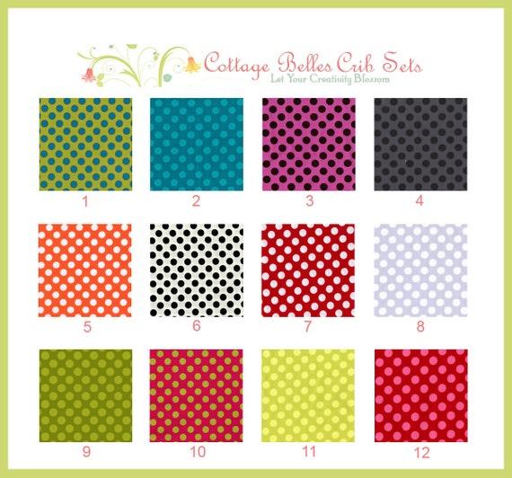 Custom Changing Pad Cover - Polka Dot Color Palette 1  by Cottage Belles
