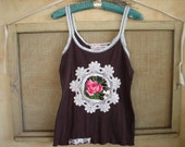 """Cowgirl country chic """"Chocolate Rose Tank"""" by simplyworn"""