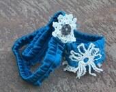 gypsy cowgirl silky blue headband - by simplyworn