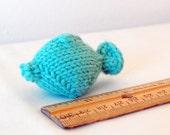 mini knit fish cat toy
