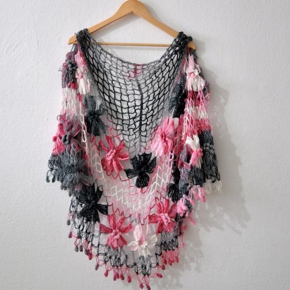 Crochet Floral Shawl Pattern : Alfa img - Showing > Crochet Flower Shawl