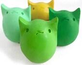 Lucky Irish Clover - 4 Kitty Egg Crayons