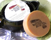 Handmade Soap Gifts For Men - Pale Wheat Beer Soap - Made with Bells Oberon Pale Wheat Ale