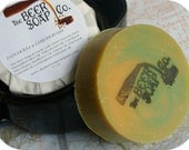 Handmade Soap Gifts For Men - Patchouli and Lemongrass Beer Soap - Made with Moosehead Canadian Pale Lager