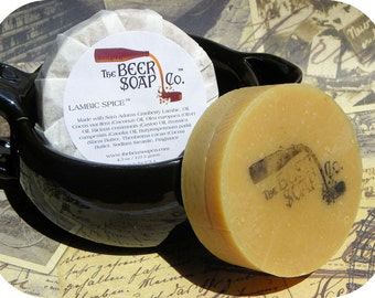 Beer Soap Gifts For Men - Lambic Spice  Beer Soap - Made With Sam Adams Cranberry Lambic