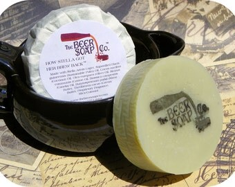Handmade Soap Gifts For Men - How Stella Got Her Brew Back Beer Soap - m/with Stella Artois Lager