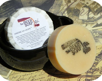 Handmade Soap Gifts For Men - American Hops Beer Soap - Made With Budweiser American Lager