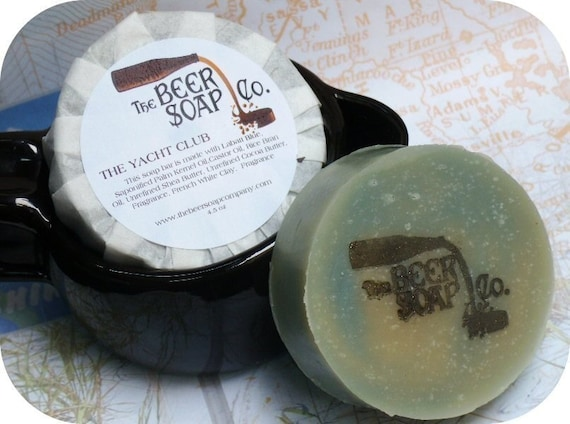 The Yacht Club Beer Soap- Made with Labatt Blue Lager