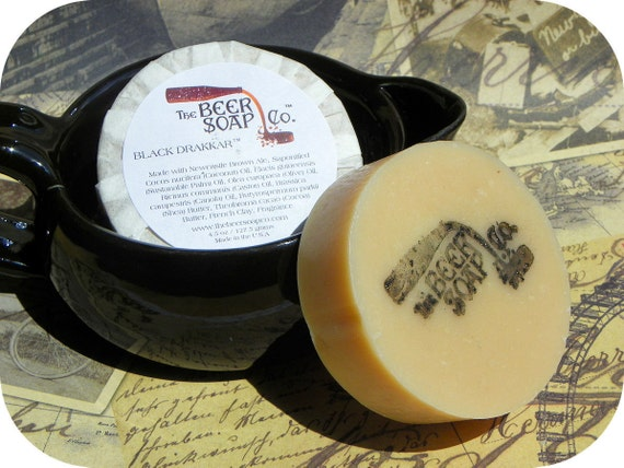 Black Drakkar Beer Soap Made with Newcastle Brown Ale