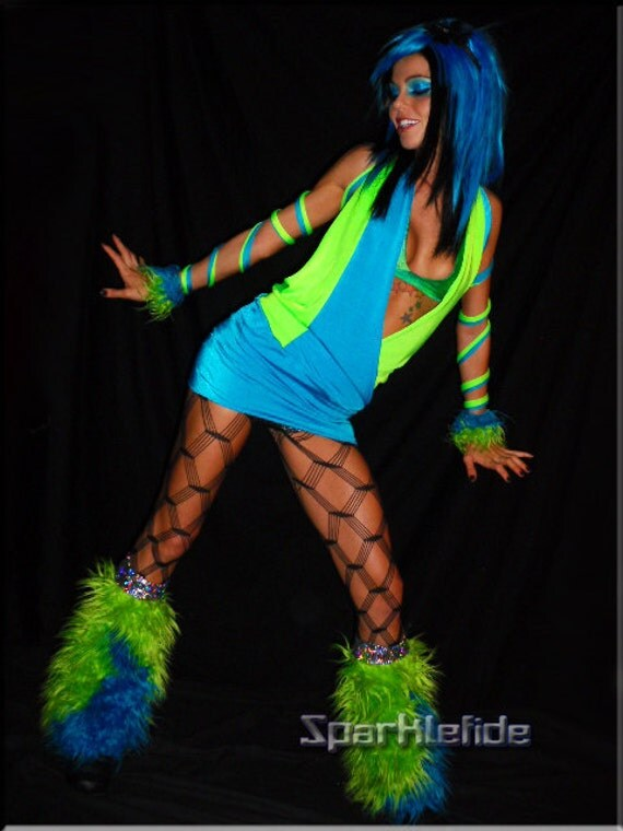 Items similar to UV Cyber Gravity Rave Costume on Etsy