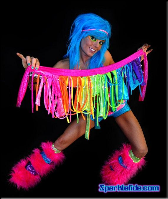 LED Solar Rainbow Rave Outfit