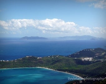 Landscape photograph - Magical Magen's Bay - 11 x 14 fine art color photograph - tropical home decor - azure cerulean cyan blue