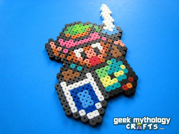 Of zelda link to the past link perler bead sprite pixel art decoration