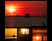 Sunsets at Grand Haven's Lake Michigan Waterfront