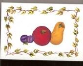 Original Acrylic Still Life - Fruit Plaque
