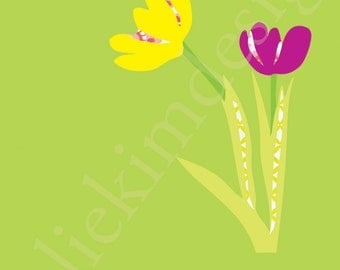 PRINTABLE Spring Tulip PDF 8 x 10