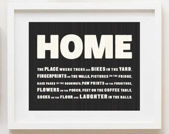 HOME Vintage Texture Print 8x10