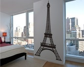 Vinyl Wall Decal Eiffel Tower 8 Feet Tall Highly Detailed