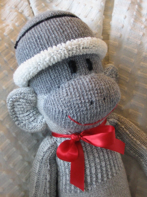 Reserve for SerenaB Only: Personalized Sock Monkey Special Collectible.  Made from Heavy Duty Hiking Socks.