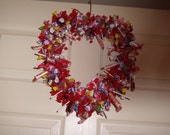 Valentine's wreath reserved for little