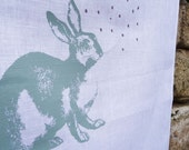Linen Tea towel /The dotty rabbit