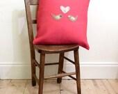 Love Birds - Appliqued Cushion