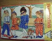 CLOSEOUT - Vintage Butterick Uncut  Busiebodies Pattern No 4339 Girls Dress Top Skirt and Pants Sz 2-3-4