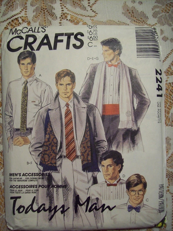 CLOSEOUT - Vintage McCalls Craft Pattern No 2241 Mens Accessory Package