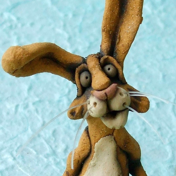 Rabbit Dish Ceramic Sculpture