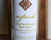Refresh -  Dead Sea Mineral Bath Soak with Organic Ginger, Organic Chamomile, and Sweet Orange