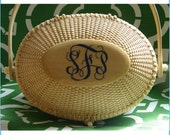 Oval Monogram Nantucket Basket Purse (Adult) by Up My Sleeve Boutique