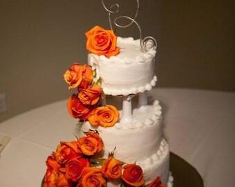 """JUMBO 7"""" - 8"""" Wire Art Monogram Wedding Cake Topper Letter  Custom Initial"""